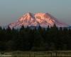 Mt. Rainier at sunset from Eatonville