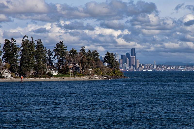 Seattle from Bainbridge Island Ferry
