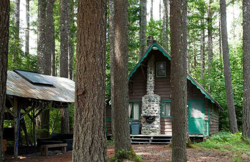 Woodland cabin on the Cowlitz River
