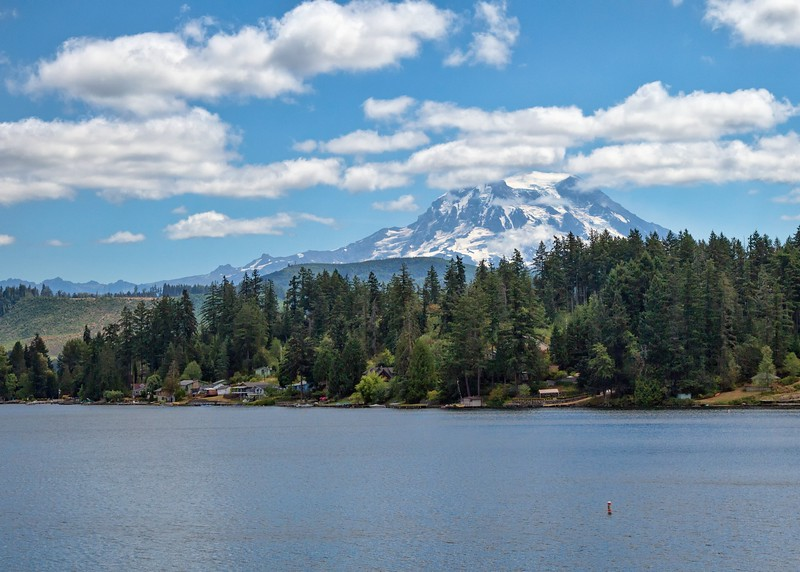 View of Mt. Ranier from Clear Lake