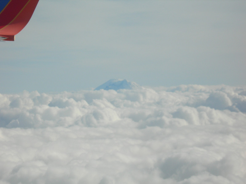 What's that peeking (peaking?) above the clouds?