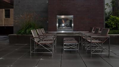 Jeff's building's outdoor deck space