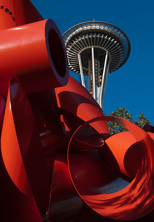 Sculpture and Space Needle