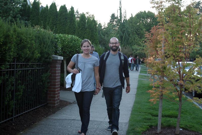 Jen and Joe Walking to Kerry