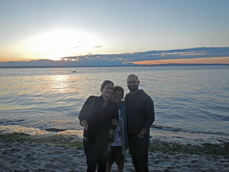 Jen Denyse and Joe at Golden Gardens Beach