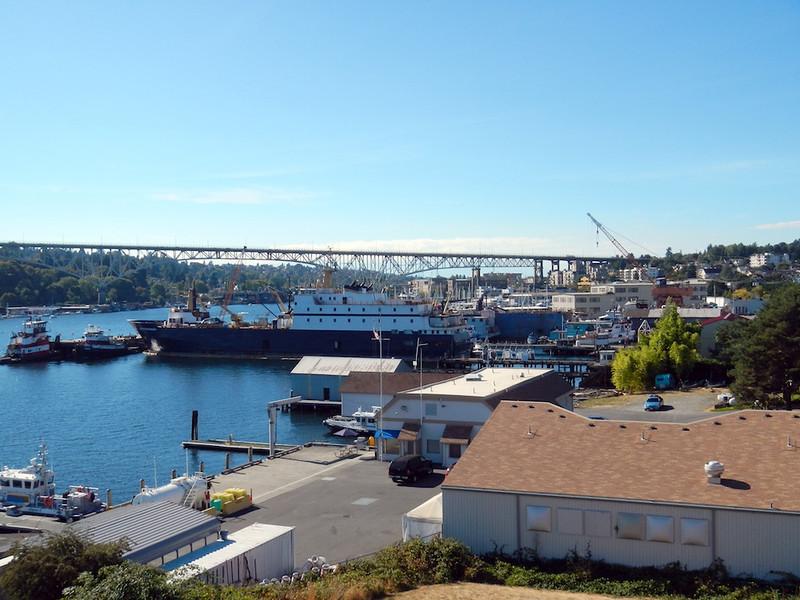 Lake Union Waterfront and Rt 99 Bridge