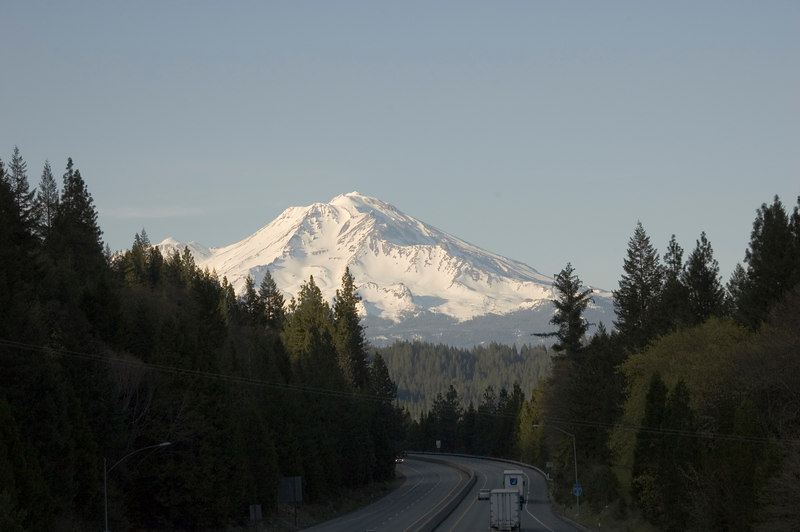 Photo of Mt. Shasta from the Sweetbrier Road overpass.