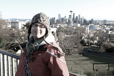 Katie overlooking Seattle, WA from Kerry Park  © Copyright m2 Photography - Michael J. Mikkelson 2009. All Rights Reserved. Images can not be used without permission.
