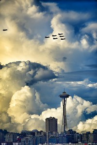 Blue Angels - Space Needle Flyover
