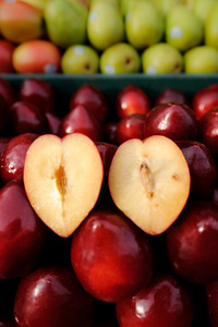 Heart-shaped plum
