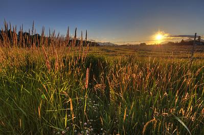 Sunset over Cle Elum, Washington