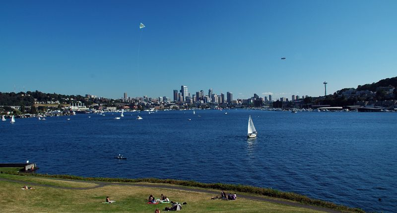 Summer time in Gasworks Park