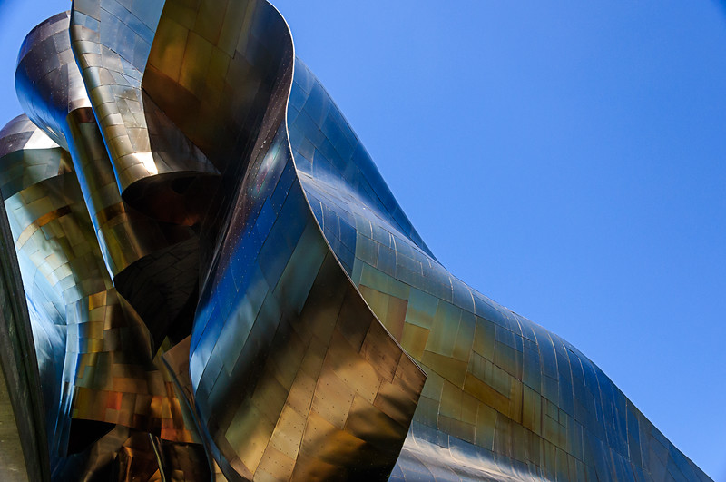 EMP Museum - A closeup of Seattle's EMP Museum, designed by Frank Gerhy.