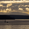 Seattle's Elliot Bay with Bainbridge Island in the background - sunset
