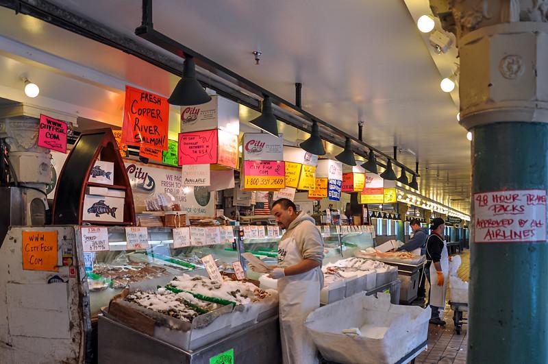 City Fish Market - Seattle's famous City Fish Market.  A closeup of the Market.