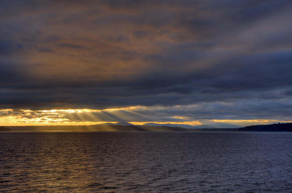 Sunset over Bainbridge Island