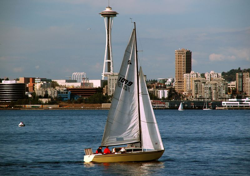 Space Needle across the Puget Sound