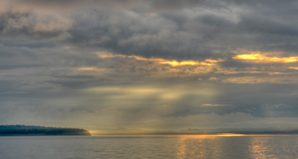Sunset over Blake Island, Washington