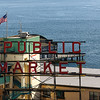 """Public Market"" Sign in Seattle's Pike Place Market.  Elliot Bay is in the background."