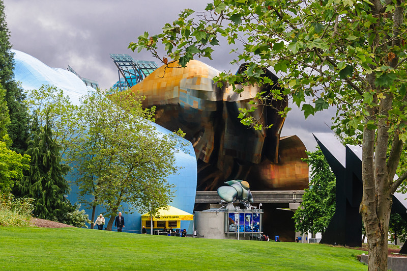 EMP Museum - A facade of Seattle's EMP Museum, designed by Frank Gerhy.