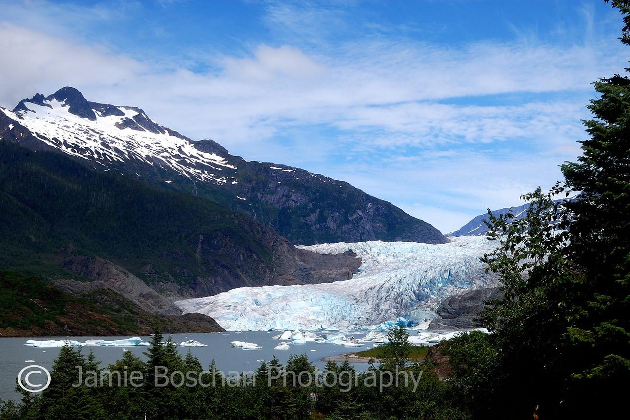 Day 3 of Cruise. Mendenhall Glacier at Juneau.