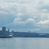 First day of cruise. View of Seattle from the ship while in the port in Seattle.