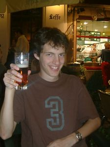 Seb with Beer