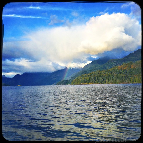 Rainbow in Sechelt, BC