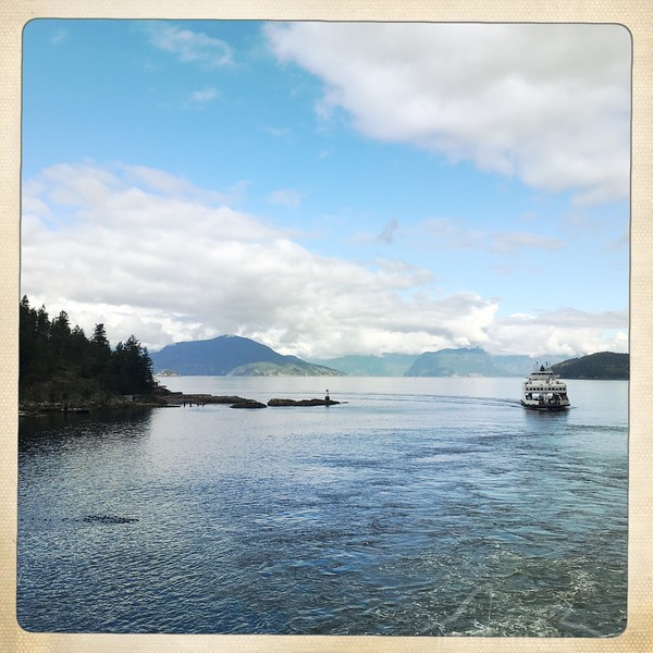 Looking from the Ferry to Egmont