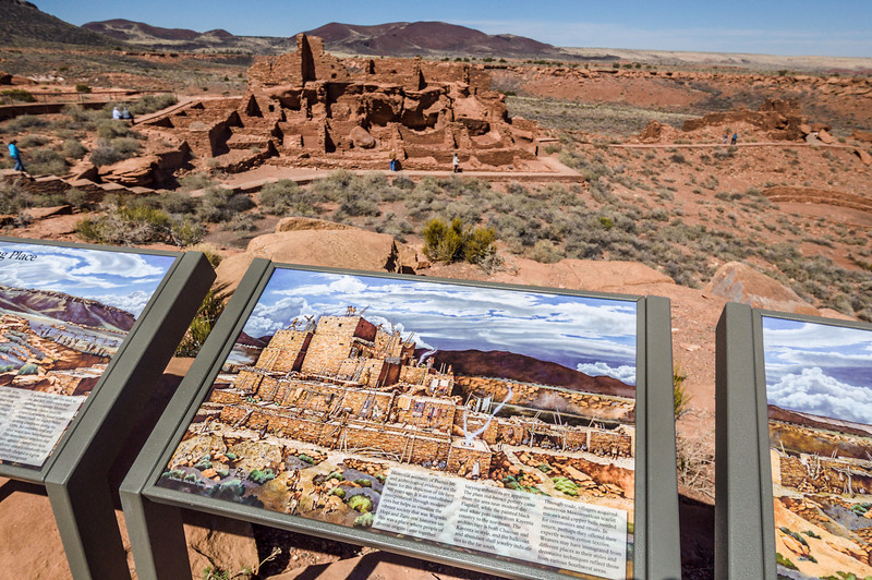 Artist's Rendering of Pueblos at Wupatki National Monument