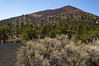 Sunset Crater, a large cinder cone.