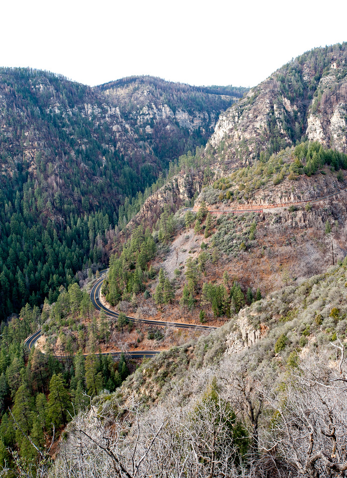 To the right, you can see the switchback we just climbed to rise from the canyon.