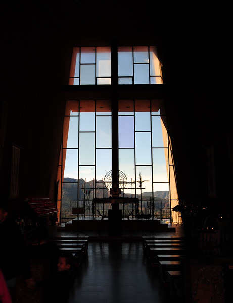 The view from inside the Chapel of the Holy Cross Chapel of the Holy Cross