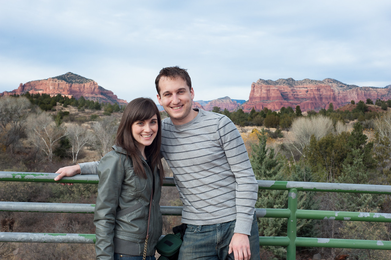 Our first sights in Sedona, exhausted from travel but excited for the week ahead.