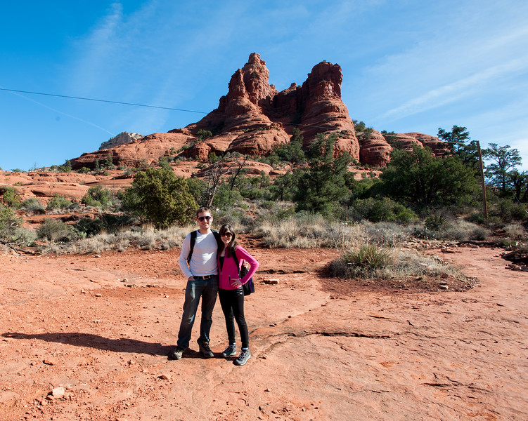 Halfway on our hike to Bell Rock