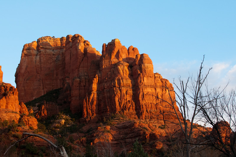 Sedona, AZ. - Cresent Ridge at sunset.