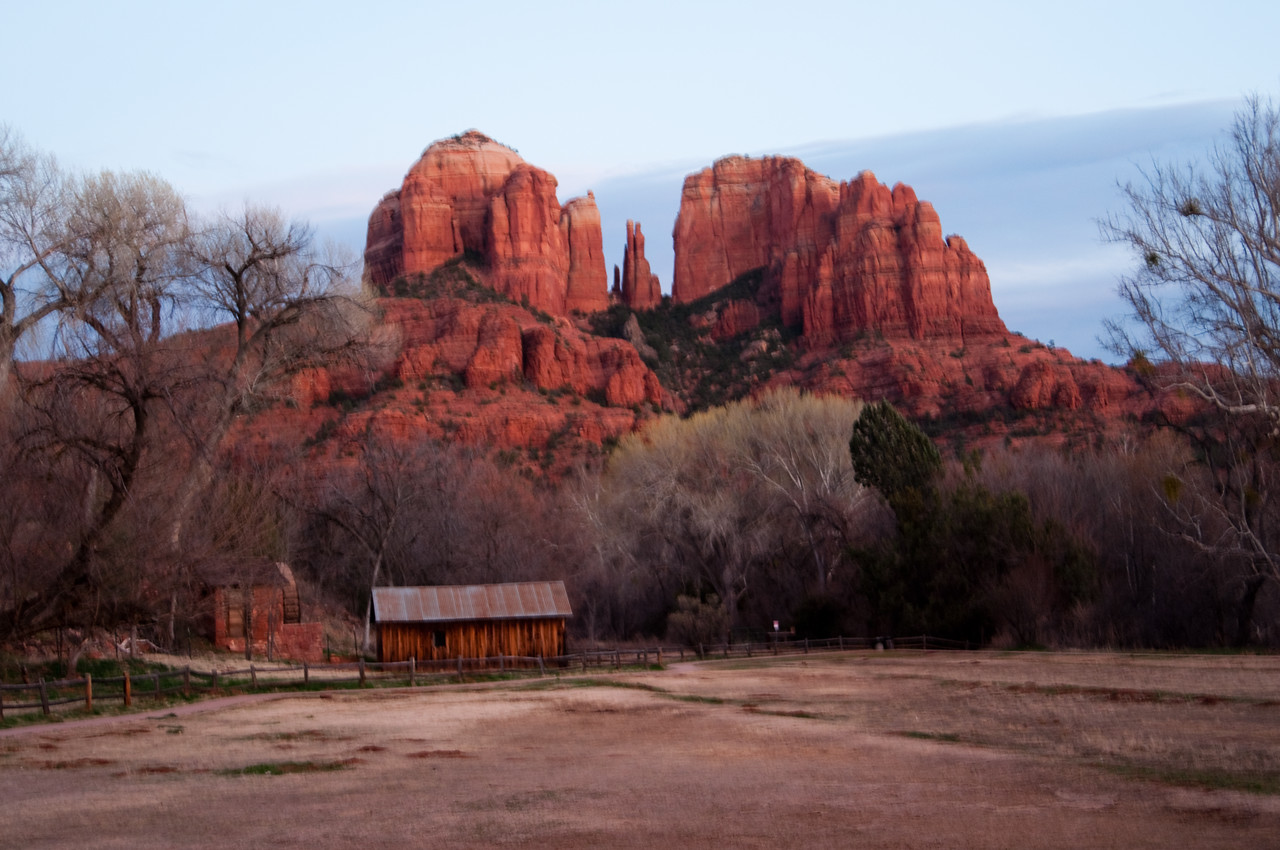 Sedona, AZ. - Cresent Ridge after sunset.