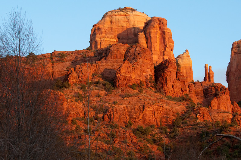 Sedona, AZ. - Cresent Ridge at afternoon.