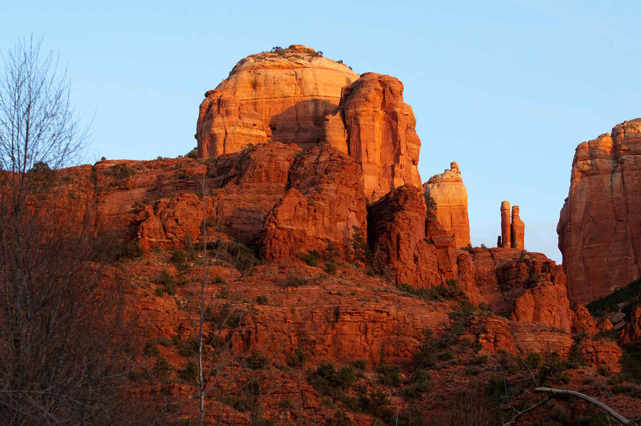 Sedona, AZ. - Cresent Ridge at presunset.