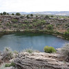 """Montezuma Well, viewed from above.  Over 1.5 million gallons of water flows through this """"sink"""" every day.  It enters through underground springs."""