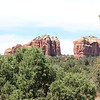 Back side of Cathedral Rock, view from turnout on 179 just south of Sedona.