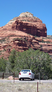 Boynton Canyon and our car.