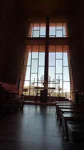 The inside of the Chapel of the Holy Cross