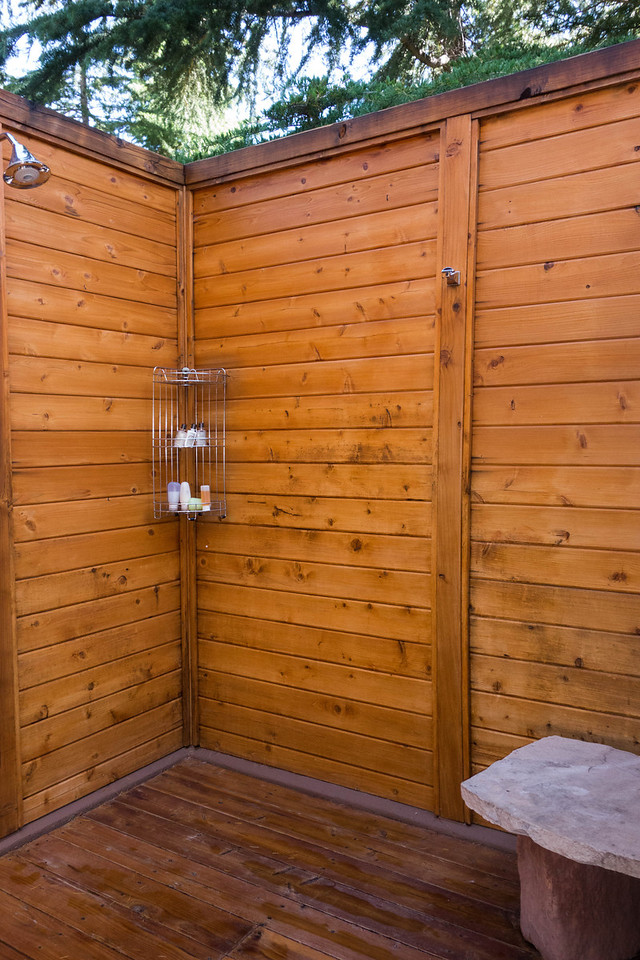 Outdoor shower. I used it every day.