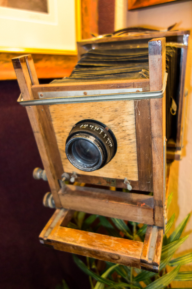 Got yelled at for taking this picture in a gallery, but how cool is this old camera?