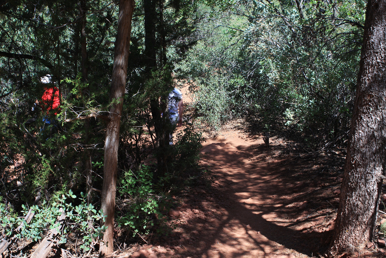 Trail leading to an Indian settlement in the Red Rock canyon area, where they used the cliffs for shelter.