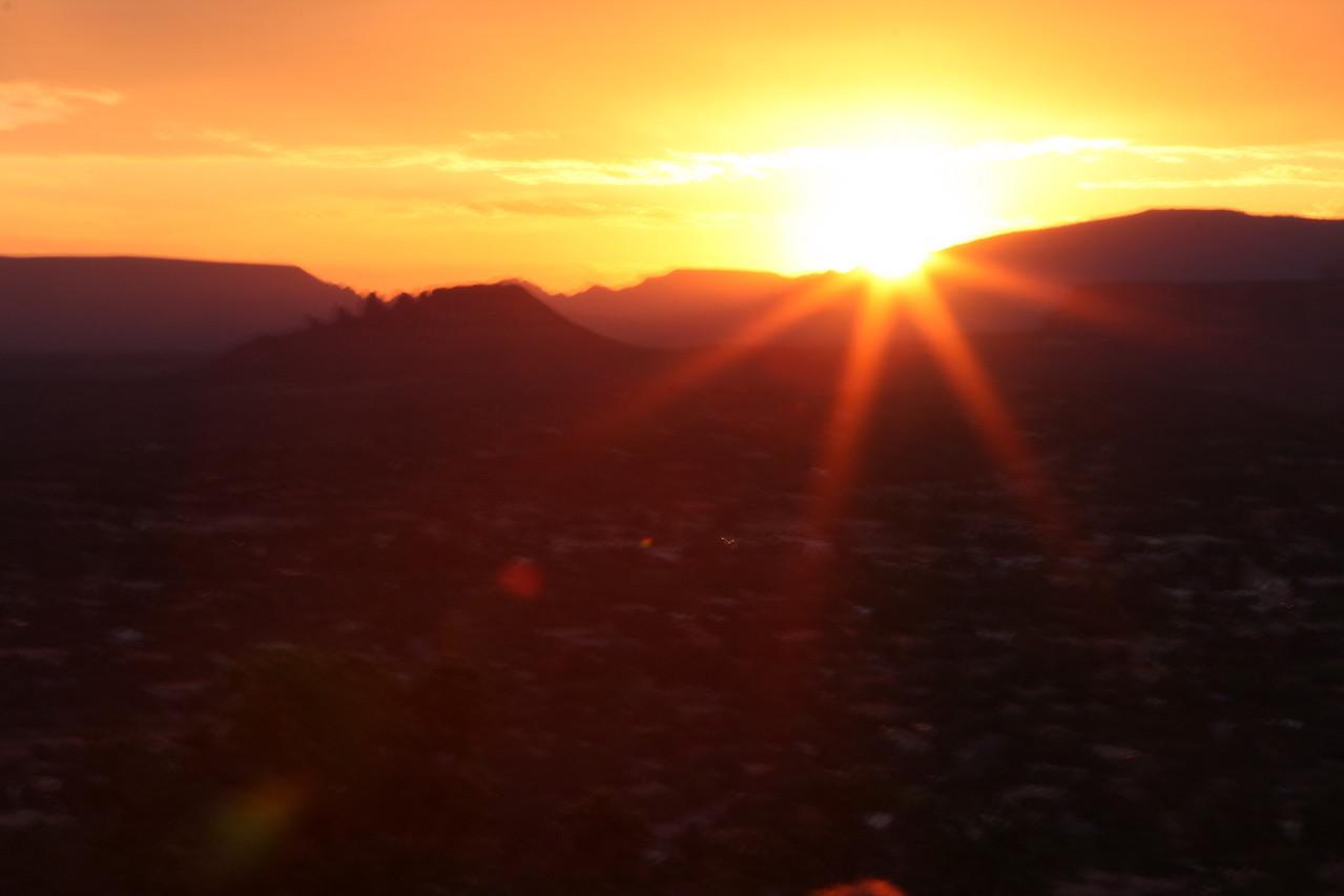 Sunset in Red Rock, outside Sedona, Arizona
