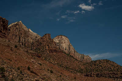 Zion Peaks from Highway 89.