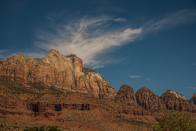 Zion Peaks from Highway 89. Sort of a drive-by shooting.