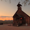 106-Sunset at the chapel of the ghost town